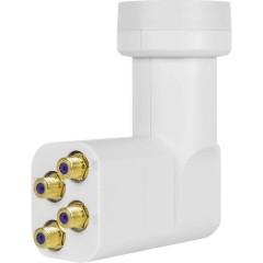 HD-Profi LNB Quattro Diametro: 40 mm connettore placcato oro, Protezione agli agenti atmosferici