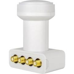 HD-Profi LNB Quad Numero utenti: 4 Diametro: 40 mm connettore placcato oro, Protezione agli agenti atmosferici