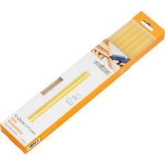 Stick colla a caldo 11 mm 250 mm Trasparente, Giallo 250 g 10 pz.