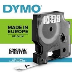 Cassetta nastro D1 Poliammide Colore Nastro: Bianco Colore carattere:Nero 12 mm 3.5 m
