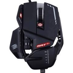 R.A.T. 6+ USB Mouse da gioco Ottico Illuminato, Ergonomico, Peso ridotto, Appoggio, Memoria integrata Nero