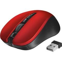 Mydo Silent Click Senza fili (radio) Mouse Ottico Rosso