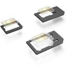 Set 5-teilig Adattatore per SIM incl. ago SIM Adattamento da: Micro SIM, Nano SIM Adattamento a: Micro SIM,