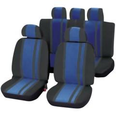 Newline Coprisedile 14 parti Poliestere Blu, Nero Sedile di guida, Sedile del passeggero, Sedile