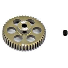 Pignone motore Tipo di modulo: 48 DP Ø foro: 3.175 mm Numero di denti: 46