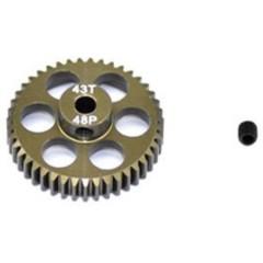 Pignone motore Tipo di modulo: 48 DP Ø foro: 3.175 mm Numero di denti: 43