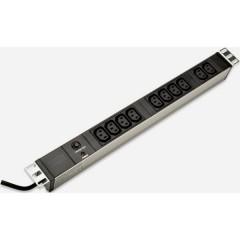 19 pollici Multipresa per armadio rack 1 U Presa IEC C13 10A Nero