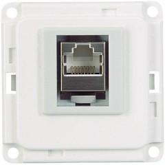 Sistema su battiscopa Presa a muro per ISDN Bianco