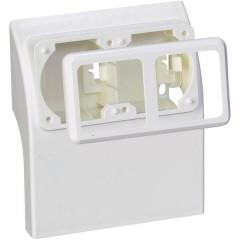 Sistema su battiscopa Contenitore per prese schuko Bianco