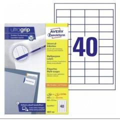 Etichette 48.5 x 25.4 mm Carta Bianco 8800 pz. Permanente Etichetta universale 220 fogli DIN