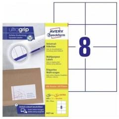 Etichette 105 x 74 mm Carta Bianco 1760 pz. Permanente Etichetta universale 220 fogli DIN A4