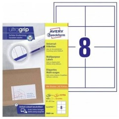 Etichette 97 x 67.7 mm Carta Bianco 1760 pz. Permanente Etichetta universale 220 fogli DIN A4