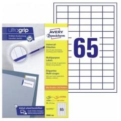 Etichette 38 x 21.2 mm Carta Bianco 1 pz. Permanente Etichetta universale 220 fogli DIN A4