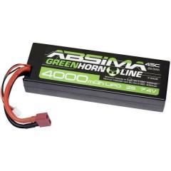 Batteria ricaricabile LiPo 7.4 V 4000 mAh Numero di celle: 2 45 C Box Hardcase Sistema a spina a T