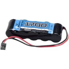 Batteria ricaricabile per ricevitore NiMh 6 V 1700 mAh Numero di celle: 5 Stick JR