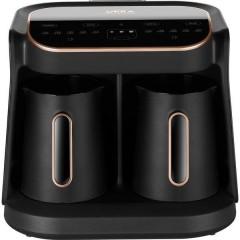 Okka Grandio Duo Caffettiera elettrica Nero, Bronzo Capacità tazze=10 Display