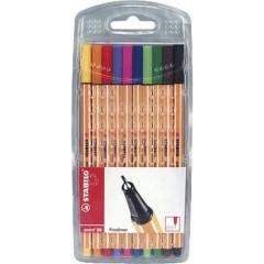STABILO point 88 Pennarello punta fine 10 pz./conf. Rosso, Blu, Verde, Nero, Giallo, Arancione, Violetto,