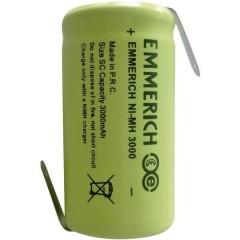 Sub-C ZLF Batteria ricaricabile speciale Sub-C linguette a saldare a Z NiMH 1.2 V 3000 mAh