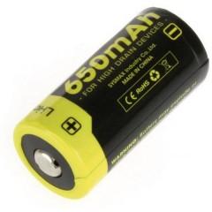 NL166 Batteria ricaricabile speciale 16340 Li-Ion 3.7 V 650 mAh