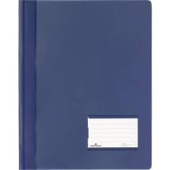 DURALUX Cartellina con fermaglio Blu scuro DIN A4+ finestrella di etichettatura 90 x 57 mm, protezione