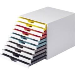 VARICOLOR MIX 10 - 7630 Cassettiera Bianco DIN A4, DIN C4, Folio, Letter Numero cassetti: 10