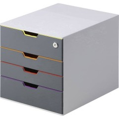 VARICOLOR SAFE Cassettiera Grigio DIN A4, DIN C4, Folio, Letter Numero cassetti: 5