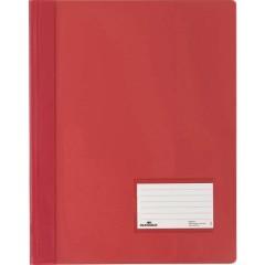 DURALUX Cartellina con fermaglio Rosso DIN A4+ finestrella di etichettatura 90 x 57 mm, protezione