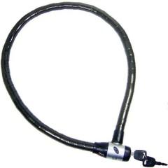 Lucchetto con cavo flessibile GS 98 Nero Lucchetto a chiave