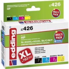 Cartuccia Compatibile sostituisce HP 932XL, 933XL Imballo multiplo Nero, Ciano, Magenta, Giallo edding 426