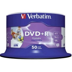 DVD+R vergine 4.7 GB 50 pz. Torre stampabile
