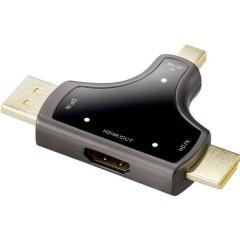 DisplayPort / HDMI Adattatore [3x Spina DisplayPort, Spina Mini DisplayPort, Spina HDMI - 1x Presa