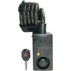 AL07 Lucchetto a cavo Nero con allarme, con sensore di movimento Lucchetto a chiave