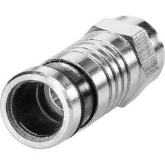 Connettore Spina a compressione F Diametro cavo: 6.8 mm