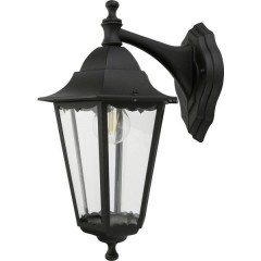 Wandleuchte Classico Aluminium/Glas/schwarz Lampada da parete per esterno E27 Nero