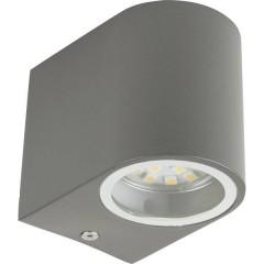 SMD-LED Wandleuchte Bastia/grau Lampada da parete a LED Bianco caldo Grigio (opaco)