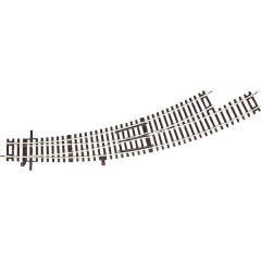 H0 Line (senza massicciata) Scambio curvo, sinistro 30 ° 419.6 mm