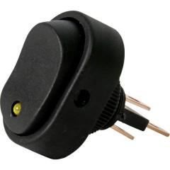Interruttore a bilanciere per auto 12 V 16 A 1 x Off / On Permanente 1 pz.