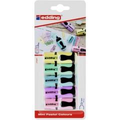 Evidenziatore edding 7 Mini Giallo, Arancione, Rosa, Azzurro, Verde chiaro 1 mm, 3 mm 1 pz.