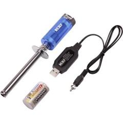 Accendi candela 100 mm Sub-C indicatore stato di carica, incl. Caricatore