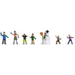 Personaggi TT bambini nella neve