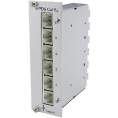 Patchpanel di rete 6 Porte CAT 6A 3 U