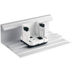 Supporto di montaggio per presa su canalina Bianco