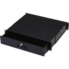 19 pollici Cassetto per armadio rack 2 U Nero