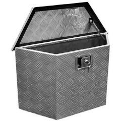 Cassetta porta attrezzi vuota per gancio rimorchio Alluminio 700 mm x 420 mm x 240 mm