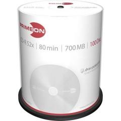 CD-R 80 vergine 700 MB 100 pz. Torre Superficie argentata opaca