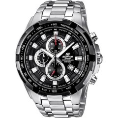 Orologio da polso Cronografo (L x L x A) 53.5 x 48.5 x 11.5 mm Argento, Nero Materiale cassa=Acciaio