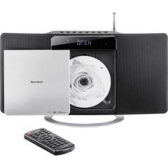 MC 6580D Sistema stereo CD, FM, DAB+, USB, AUX, Bluetooth, incl. telecomando 2 x 5 W Nero, Argento