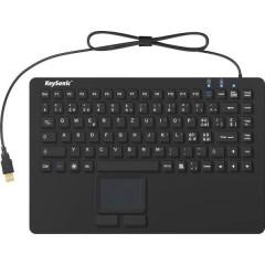 KSK-5230IN (CH) USB Tastiera Svizzera, QWERTY, Windows® Nero Membrana di silicone, Impermeabile (IPX7),