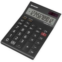 EL-125T Calcolatrice da tavolo Nero Display (cifre): 12 a energia solare, a batteria (L x A x P) 112 x 13 x 176