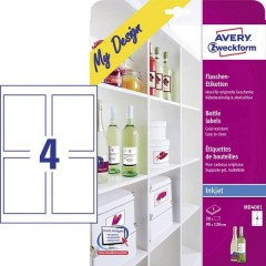 90 x 120 mm Carta Bianco 20 pz. Permanente Etichette per bottiglie